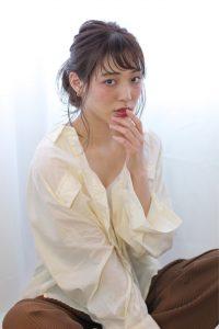 kamei*アレンジは後れ毛が可愛い◎