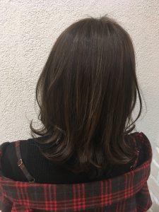エヌドットカラー☆カーキアッシュ