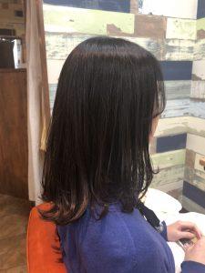 韓国風流し前髪