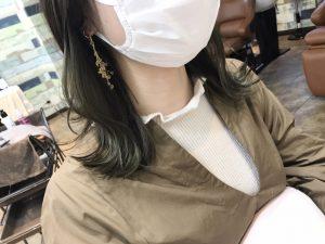インナーカラー☆カーキベージュ