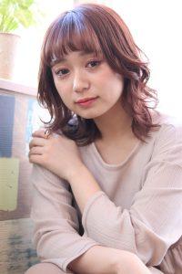 春に人気なピンクブラウンカラー☆