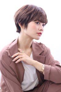 マッシュショート×艶カラー☆